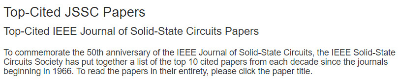 DVS paper fourth most cited IEEE Journal Solid State